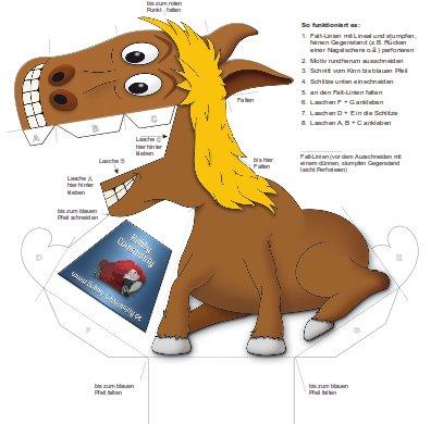 Optische Täuschung Pferd