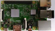 Raspberry Pi 2 B - Draufsicht. So sieht der kleine von oben aus.